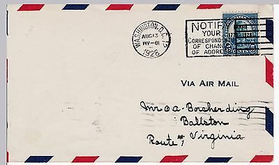 First day cover, Scott #648, Hawaii, DC cancel, time inverted in CDS, 1928