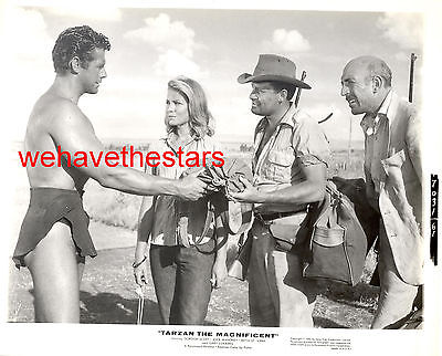Vintage Gordon Scott RISQUE SEXY LOIN CLOTH TARZAN '60 Publicity Portrait