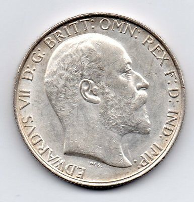 1903 Florin, Edward Vii Bare Head, Scarce Date, High Grade
