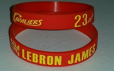 "Cleveland Cavaliers Lebron James #23 Red Silicone Bracelet - King -8"" Diameter"