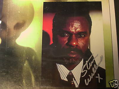 X-Files Steven Williams X Autographed Photo