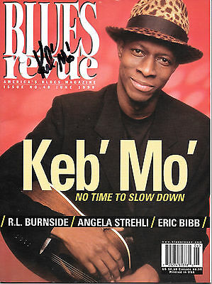 Keb Mo Autographed Blues Magazine