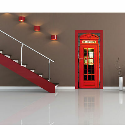 London Phone Box Door Mural - New - Sealed *Free UK Delivery*