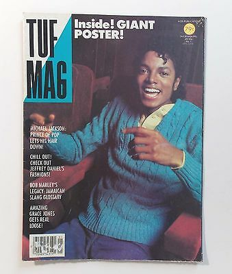 Vintage 1980s TUF MAG 22x32 Poster Magazine Featuring MICHAEL JACKSON No 1 Issue