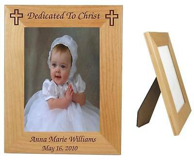 Personalized Baby Frame 5 x 7 Picture Baptism, Dedication Baby Photo Gift
