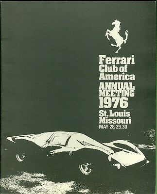 1976 Ferrari Club of America Annual Meeting Program St. Louis, Missouri