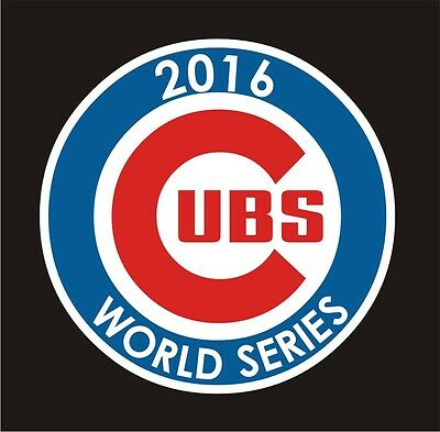 """Chicago Cubs WORLD SERIES 2016 cell phone  2"""" decal vinyl sticker laptop"""