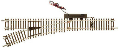 """Atlas HO Scale Code 83 22"""" Remote Left-Hand Turnout/Switch Model Train Track"""