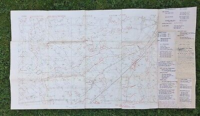 "Ww1 British Army Trench Map ""abeele"" Ypres Salient July 1918."