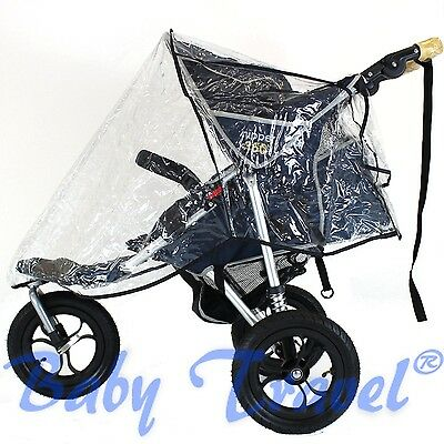 Universal Baby Trend Rain and Wind Cover for Single Jogger Stroller 3 Wheeler