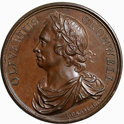 Death Of Oliver Cromwell Medal 1731 Kings And Queens Series Of Medals Dassier