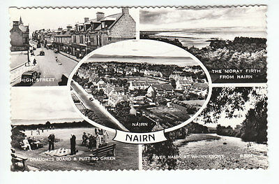 Nairn High Street Draughts Board Putting Green Whinniknowe 1954 Real Photograph
