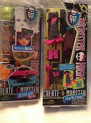 Monster High Create A Monster-Color Me Creepy  Nocturnal Design Lab-Add On Packs