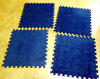 Carpet for all uses. 600 sq.ft., Rich Blue Color, Interlocks, comes with Case