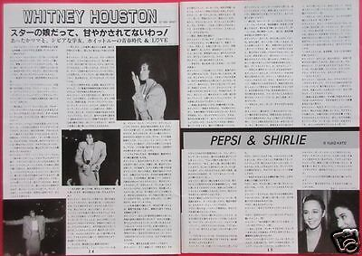 Whitney Houston 1988 Clippings Japan Magazine Ir 2A 2Page