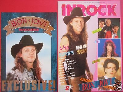 Bon Jovi Richie Sambora Cover Page & Special Photo Magazine 1989 Japan Ir 2A