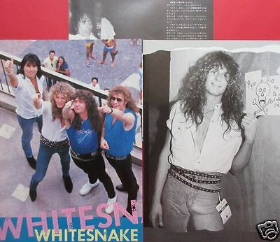 Whitesnake David Coverdale Cozy Powell John Sykes 1985 Clippings Ir 6A 4Page