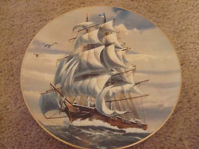 """Rosenthal Danbury Mint Plate GREAT AMERICAN SAILING SHIPS 'The Sea Witch"""""""