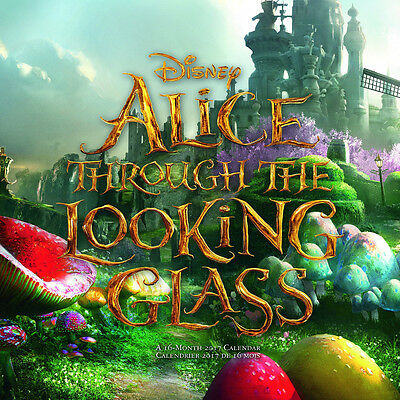 Walt Disney Alice Through The Looking Glass Movie 16 Month 2017 Wall Calendar