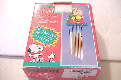 New~Peanuts Christmas Mini Wind Chime~Featuring Charlie Brown~Nce~