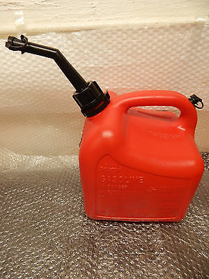 CHILTON  2.10 gal. Plastic Gas Can, Early Blitz style Pre-Ban Vented, Spout
