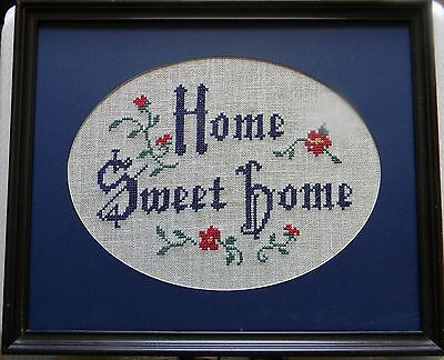Framed needlework  ( HOME SWEET HOME )