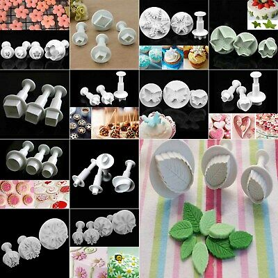 Diy Sugarcraft Fondant Icing Plunger Cutters Tools Cake Decorating Party New