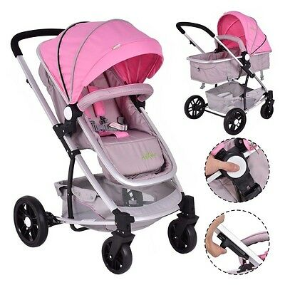 3 Colors 2 In1 Foldable Baby Stroller Kids Travel Newborn Infant Buggy Pushchair