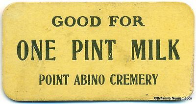 ONTARIO, Point Abino Cremery Good For One Pint Milk Inv #43