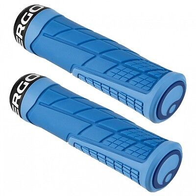 NEW Ergon GE1 Ergonomic Locking Enduro/Trail Grips - AM/FR/DH/MTB - Blue