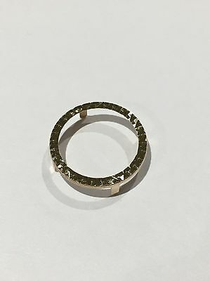 9 Ct Gold Diamond Cut Half Sovereign Ring Bezel 4 Claw