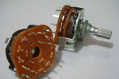 5x Rotary Switch Potentiometer 1 Pole 10 Position for Guitar effect/Audio 1P10T