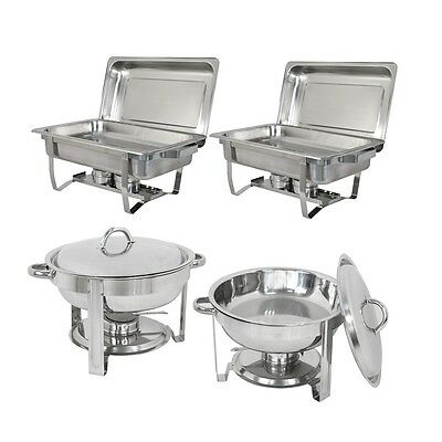 2 Pack 8 Quart&5 Quart Chafing Dish Stainless Steel Tray Buffet Catering Chafers