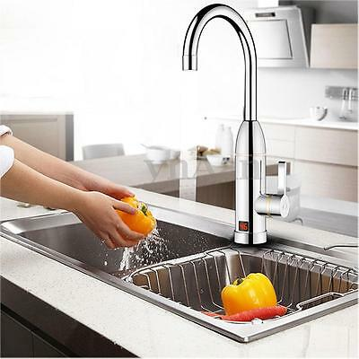LED Display Electric 3s Fast Heating Instant Heater Faucet Tap Hot Cold Water