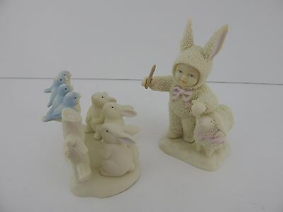 Dept 56 Snowbunnies Let's ll Sing Like the Birdies Sing Retired So Sweet!
