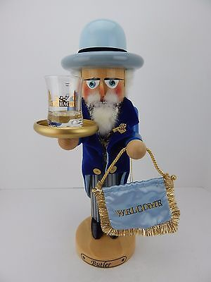Steinbach Nutcracker Butler w/ Shot Glass Has Box Handmade in Germany Signed 2