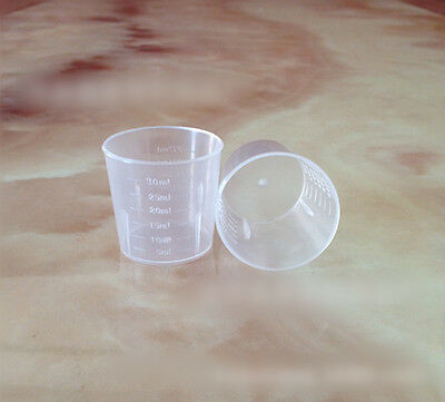 2x Lot 30ml Plastic Liquid Measuring Cups Kitchen Baking / Medicine Measure Tool