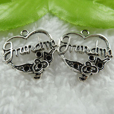 Free Ship 160 pieces tibet silver heart charms 24x24mm #451