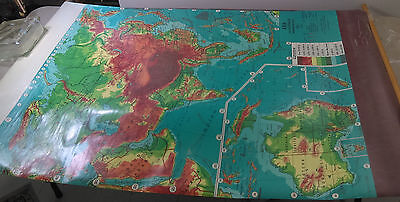Weber-Costello Classroom Map ASIA AUSTRALIA Advanced Physical Roll Pull-down Vtg