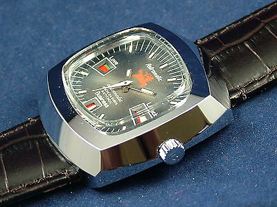 Gents NOS Vintage Astromatic Sagittarius Star Sign Automatic Watch 1970s Swiss