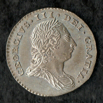 George III Maundy Threepence Silver 1786 Super Condition