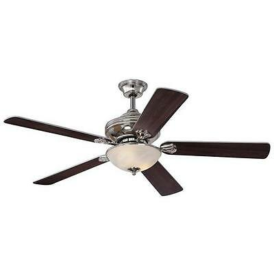 Anderson 52 in. Reversible Plywood Five Blade Indoor Ceiling Fan with Light, ...