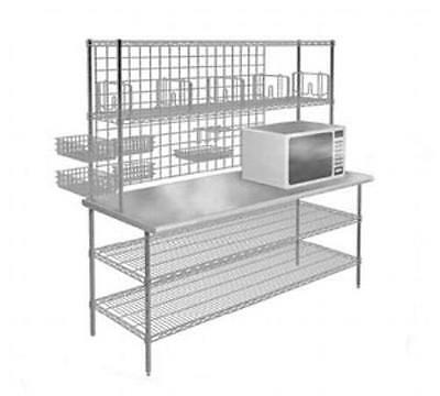 "Eagle Group TSB2460Z Commercial Stainless Biscuit Bakery Workstation 24"" x 60"""