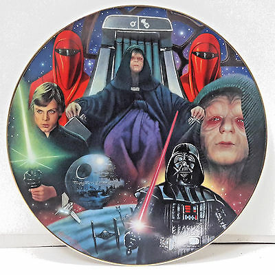 Vintage Star Wars Heroes & Villains Ceramic Collector Plate- Palpatine Montage