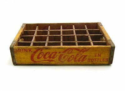 Vintage 1954 DRINK COCA COLA IN BOTTLES WOODEN SODA CARRIER CRATE Chattanooga Tn