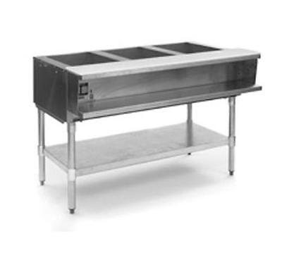 Eagle Group AWTP3 3-Well Gas Steam Table w/ Galvanized Shelf & Safe Pilot