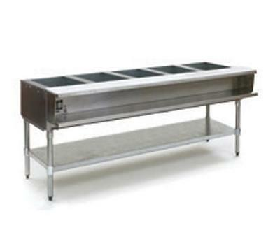 Eagle Group AWTP5 5-Well Gas Steam Table w/ Galvanized Shelf & Safe Pilot