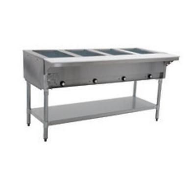 Eagle Group 4-Well Stationary Electric Hot Food Table S/S Shelf & Legs - SDHT4