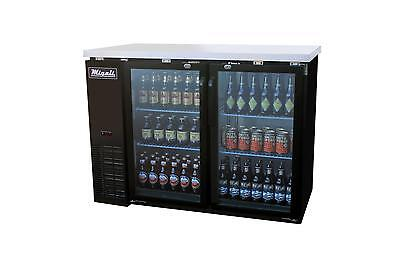 "Migali C-BB48G Migali 48"" 2 Glass Door Back Bar Cooler"