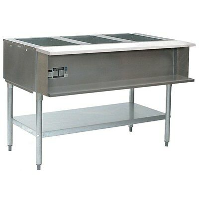 "Eagle Group AWT3-NG-1X 3-well water bath Steam Table 48"" Natural Gas"